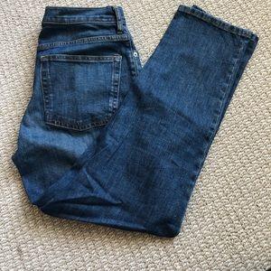 Everlane medium washed straight ankle jean